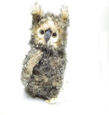 Hansa Brown Owl With Moving Head Plush 13(Grey)