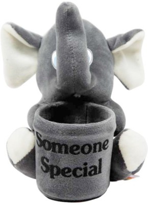 kidofy ELEPHANT SOMEONE SPECIAL PEN STAND  - 6 inch(Grey)