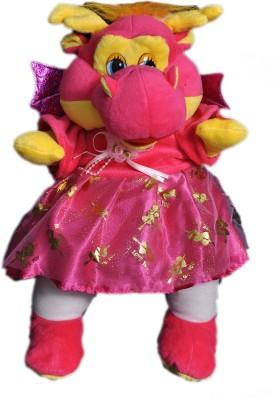 VRV Multicolour Soft and Cute Baby Dragon toy  - 30 cm