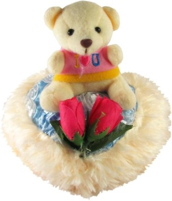 Tickles Teddy With Rose  - 15 cm