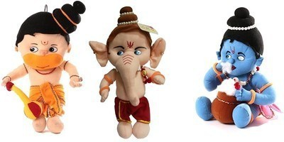 ARIP Naughty Hanuman, Ganesha & Krishna Combo  - 13 inch