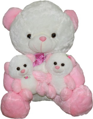 Gifts & Arts Cute Teddy With Kids Pink  - 47 cm