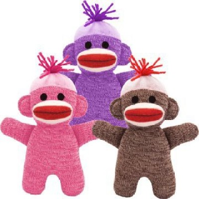 Schylling Ba Sock Monkey (Color May Vary)