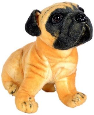 Tanisi Stuffed Soft Toy Pug Dog  - 32 cm(Brown)