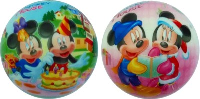 Lolprint Mickey Mouse Soft Ball - Pack of 2  - 4 inch