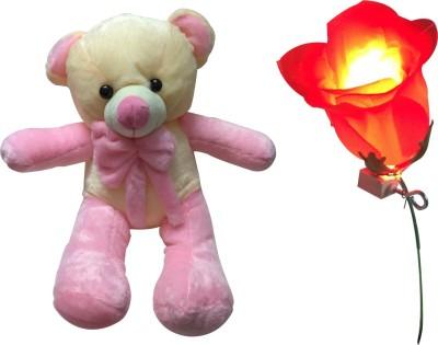 Priyankish Pink Long Teddy Soft Toy Combo Gift Set