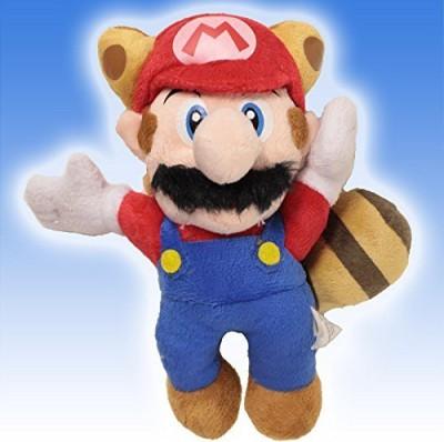 Super Mario Brothers Super Mario Flying Raccoon Tanooki Red Mario Plush 8