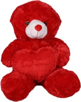 Cuddles Collections Heart teddy Red  - 25 cm