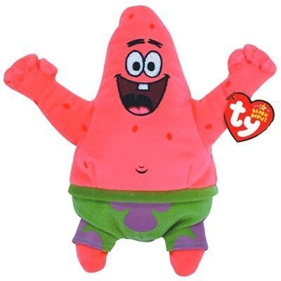 SpongeBob SquarePants Ty Beanie Babies Patrickstar Best Day Ever  - 20 inch