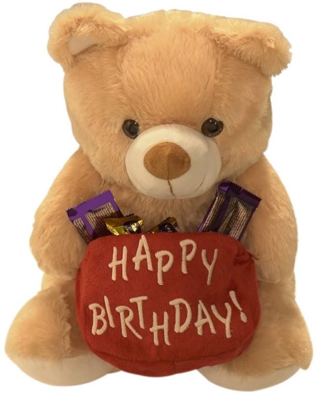 Ultra Happy Birthday Teddy Soft Toy - 15 inch(Camel Brown)