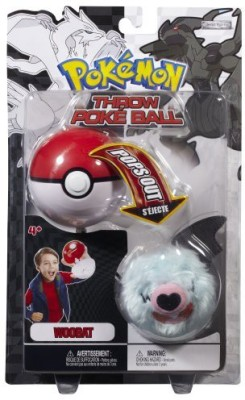 Pokemon Black White Plush Series 2 Throw Poke Ball Woobat