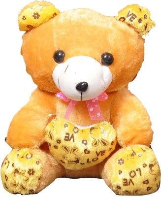 VRV Soft Toys Yellow Teddy Bear  - 25 cm