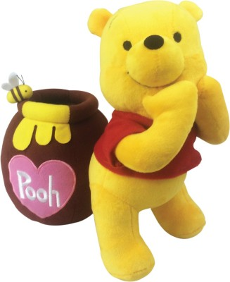 Disney pooh with pot plush standing  - 27 cm