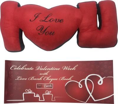 Priyankish I LOVE YOU SOFT TOY & Valentine Cheque Book Gift Set