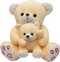 Joey Toys Mother child teddy 42 cms  - 16.5 inch(Beige)