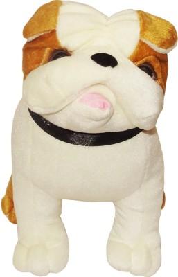 Vpra Mart Bull Dog Brown & White Soft Toy  - 30 cm