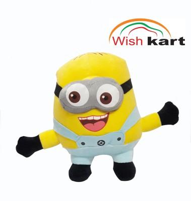 Wish kart Minions Stuffed Soft Toy.  - 22 cm(Yellow)