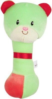 First Step Baby Shaking Rattle - Green Teddy  - 39 inch