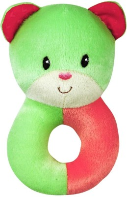First Step Baby Ring Rattle - Green Teddy  - 34 inch