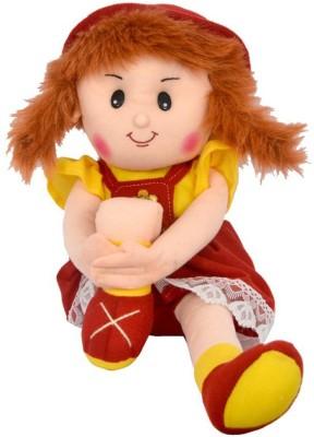 FunnyLand Surabhi Doll Maroon Yellow 47cm  - 47 cm