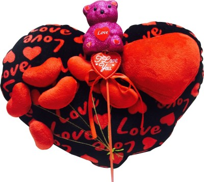 Priyankish Exclusive Heart Soft Toy Combo Gift Set