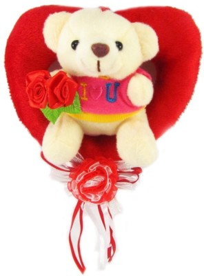 Tickles Bouquet Teddy With Rose Heart  - 13 cm