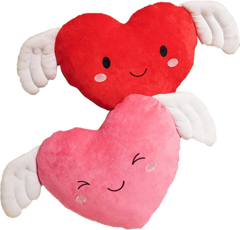 StyBuzz Angel Wing Heart Combo - 16 inch(Red, Pink)