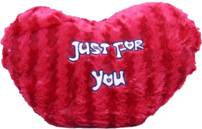 Gallibazaar Red Hearted Cozy Pillow  - 12 inch