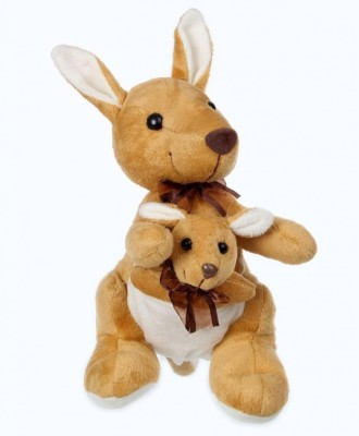 Tickles Kangaroo Mother and Baby  - 8 inch