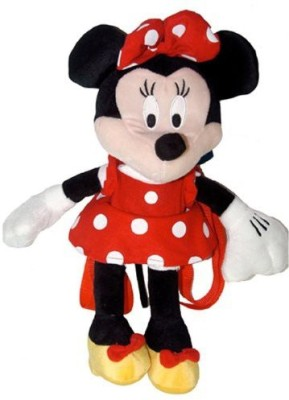 Disney Red Minnie Mouse Plush Backpack Minnie Plush Backpack