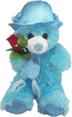Tickles Gorgeous Cap Teddy With Rose  - 36 cm