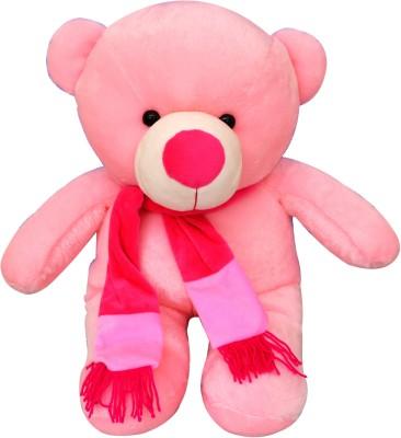 Funtastik Pink Teddy Bear With Scarf  - 22 inch
