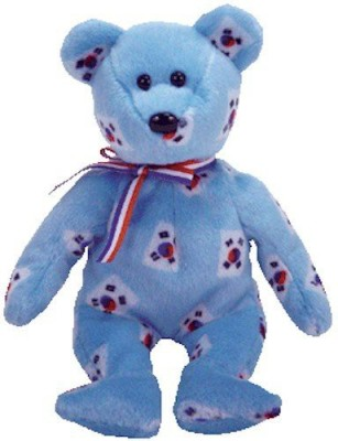 TY Beanie Babies Korea The Bear (Flag Pattern Version Korea