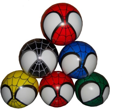 Shree Ji Enterprises Crezy Spiderman Soft Boll  - 9 cm