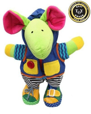 Genius Baby Toys Squeak E. Mouse Learn to Dress Doll  - 20 inch