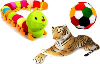 Arthr Soft Toys caterpiller Tiger & Ball combo pack  - 55 cm