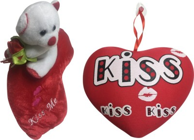 Priyankish Teddy on the Lips with I Love You Sound & Kiss Heart Soft Toy Gift Set