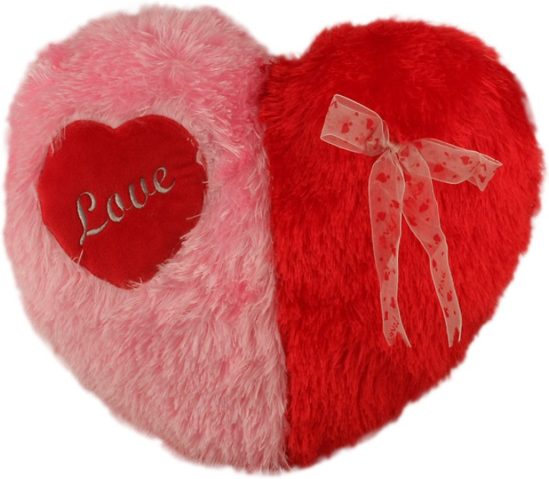 Touchy Toys Heart  - 15 inch(Red, Pink)
