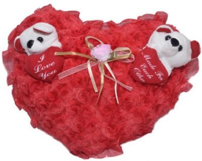 Esoft Red Heart Cushion  - 4 inch