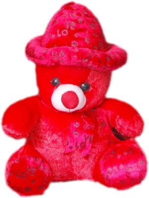 VRV Soft Red Love Teddy Bear with Cap  - 32 cm