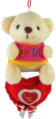 Tickles Charming Teddy Hanging With Heart  - 15 cm