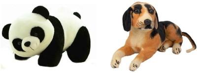 VRV Soft toy Panda and Dog 25cm  - 20 cm