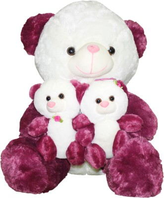Gifts & Arts Cute Teddy With Kids Purple  - 47 cm