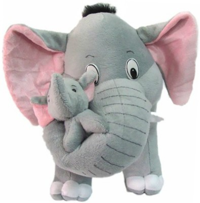 Vpra Mart Mother Elephant With Two Baby  - 34 cm