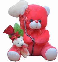 MGPLifestyle - Valentine Gift I Love You Dark Pink Ballon Heart Teddy (36 CM) with Little Cute Small Teddy with Flower  - 18 cm best price on Flipkart @ Rs. 449