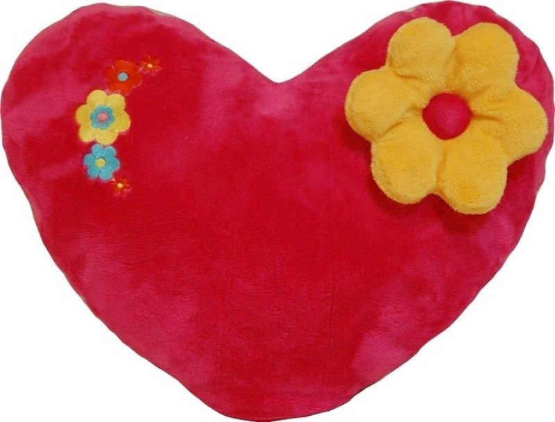 Surbhi Heart with Flower  - 6 inch(Red)