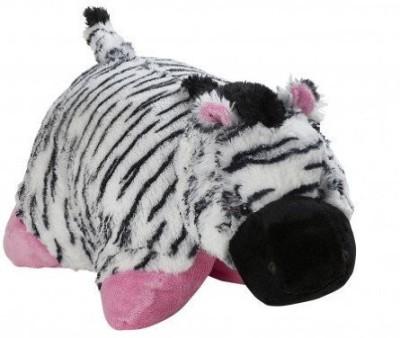 Pillow Pets My Zebra - Large (Black, White & Pink)  - 25 inch