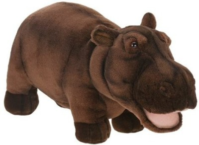 Hansa Plush 18 Happy Hippo(Brown)