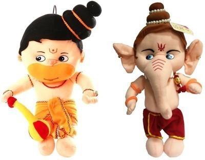 ARIP Naughty Hanuman & Ganesha Combo  - 13 inch