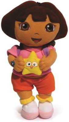 Skylofts Stuffed Dora The Explorer Plush Soft Toy  - 25 cm(Multicolor)
